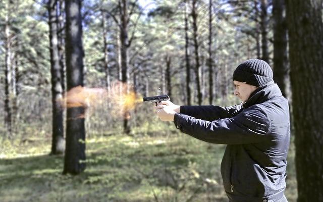 Man shooting shoots, people.