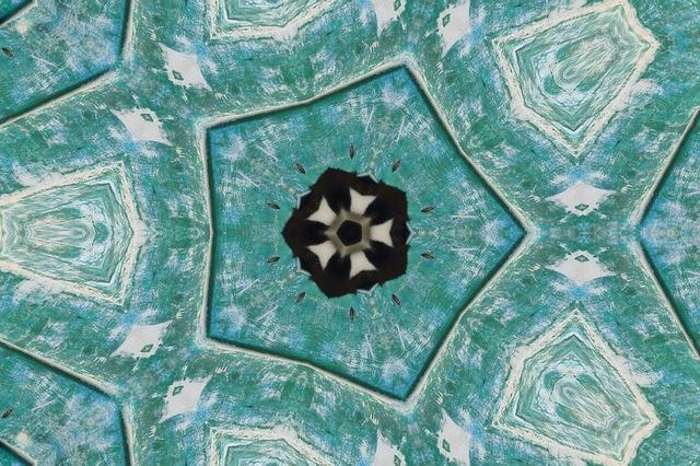Mandala crystal blue.