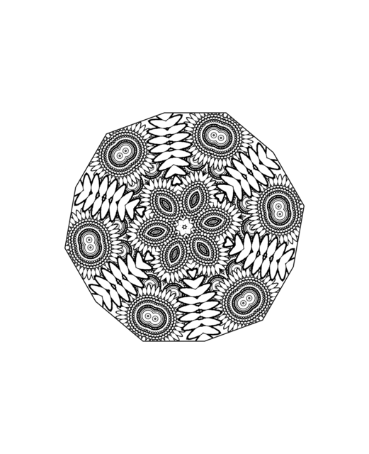 Mandala flower pretty, religion.