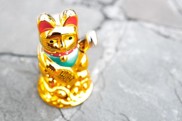 Maneki neko waving cat manekineko, animals.