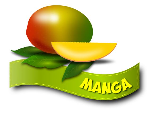 Manga fruit fruits, food drink.