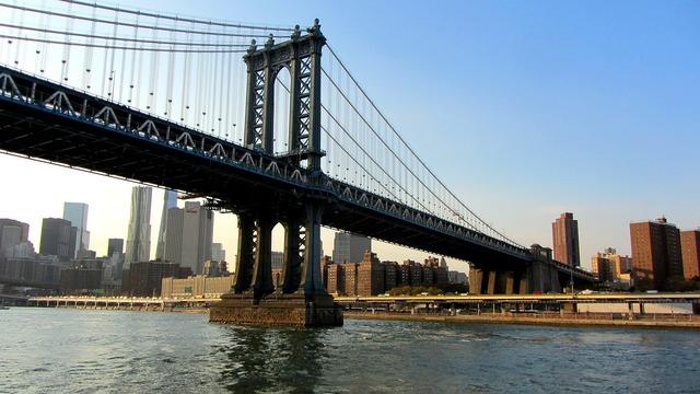 Manhattan bridge new york city suspension bridge.