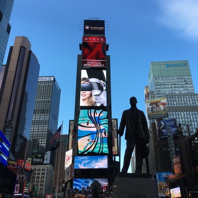Manhattan time square famous, business finance.