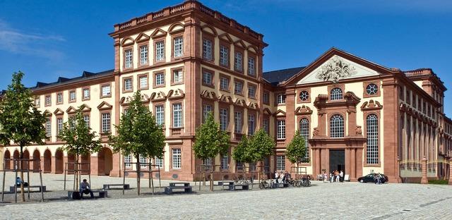 Mannheim castle kurfürstliches closed.