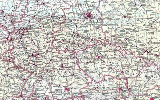 Map eastern bloc czech republic.