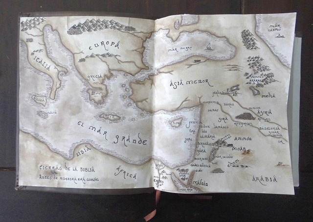 Map vintage ancient map.