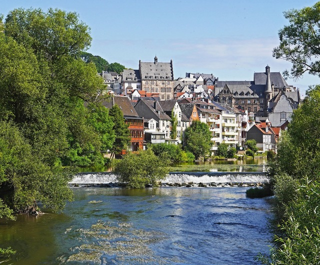 Marburg lahn weir.