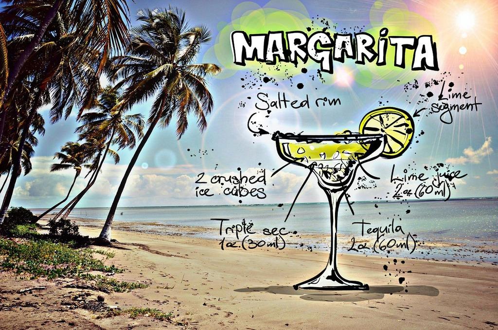 Margarita cocktail drink, food drink.