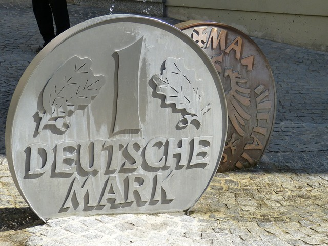 Mark coin currency, business finance.