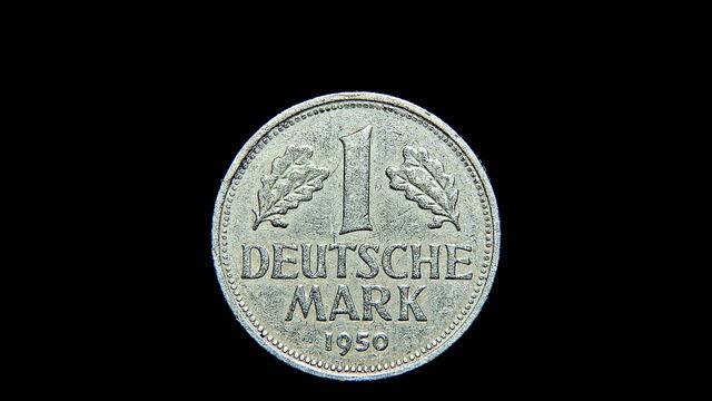 Mark coin money, business finance.