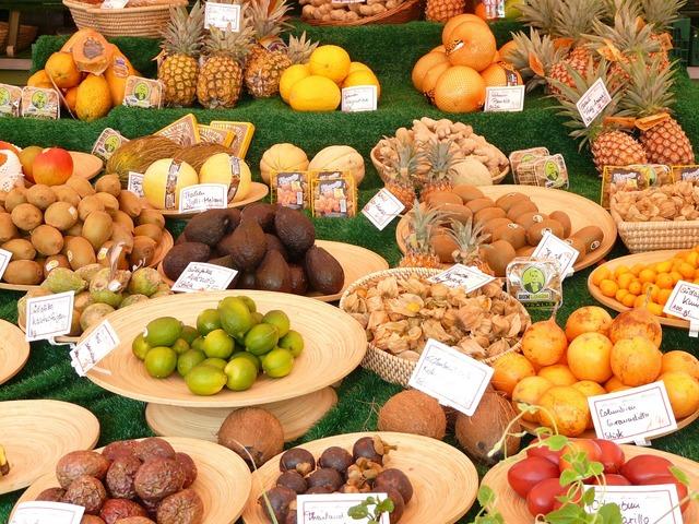Market food fruits, food drink.