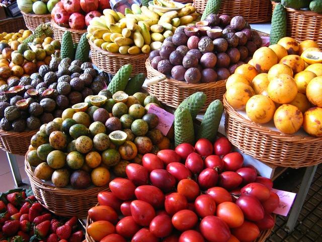 Market fruits colorful.