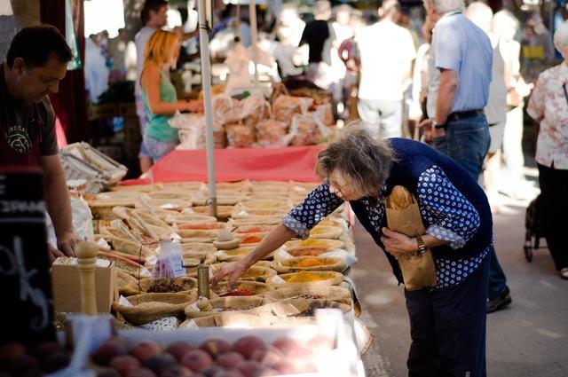 Market old elderly.