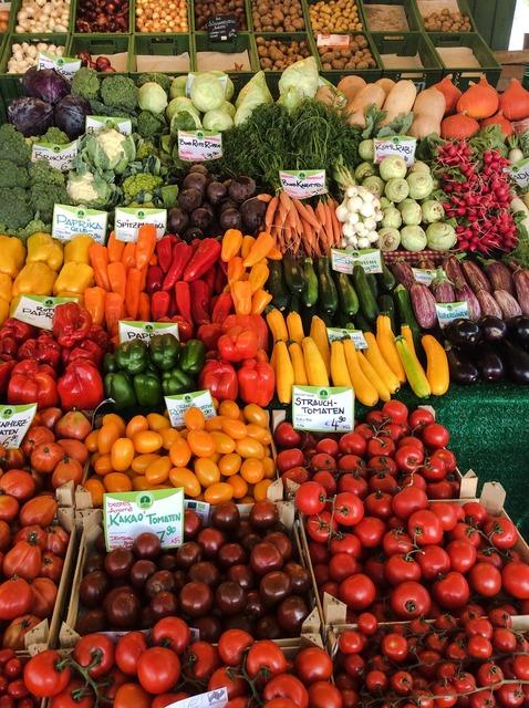 Market vegetables healthy, food drink.