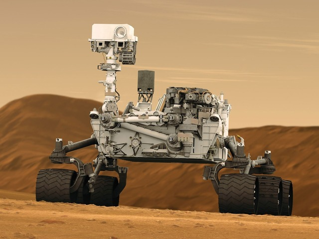 Mars rover curiosity space travel, science technology.