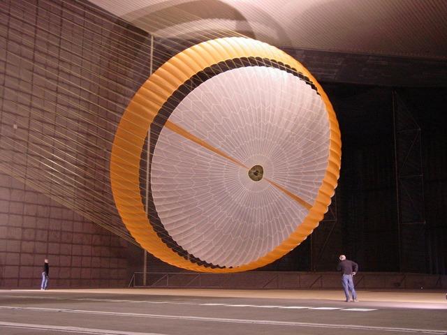 Mars rover parachute large, architecture buildings.