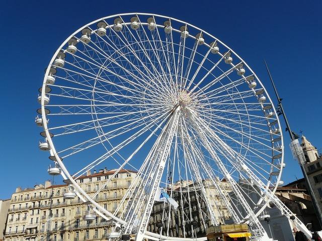 Marseille ferris wheel france.