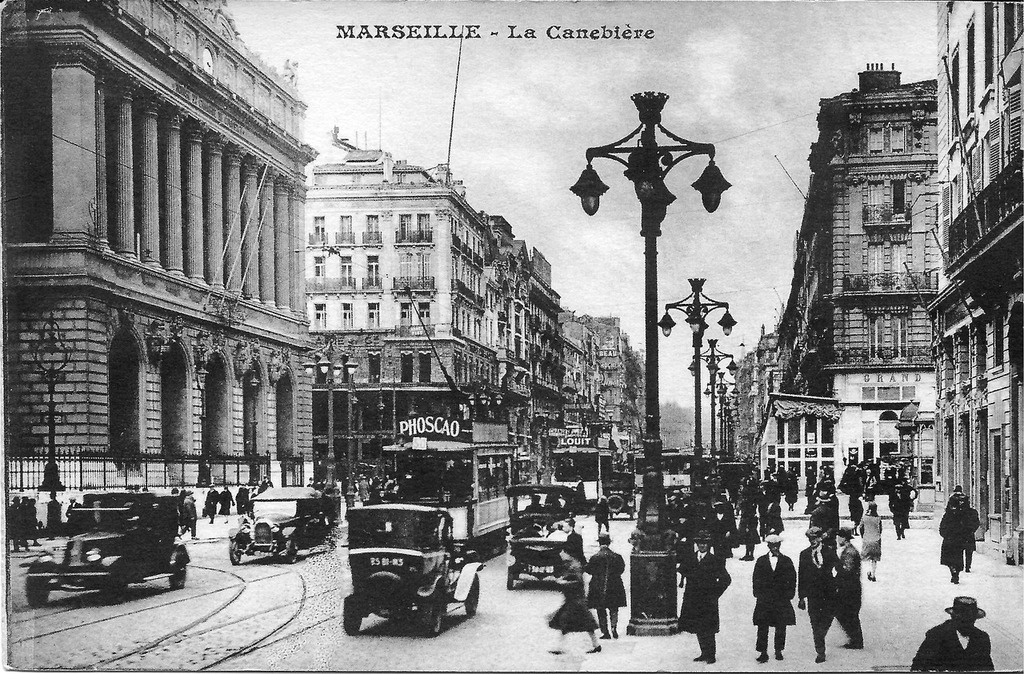 Marseille the canebière france, people.
