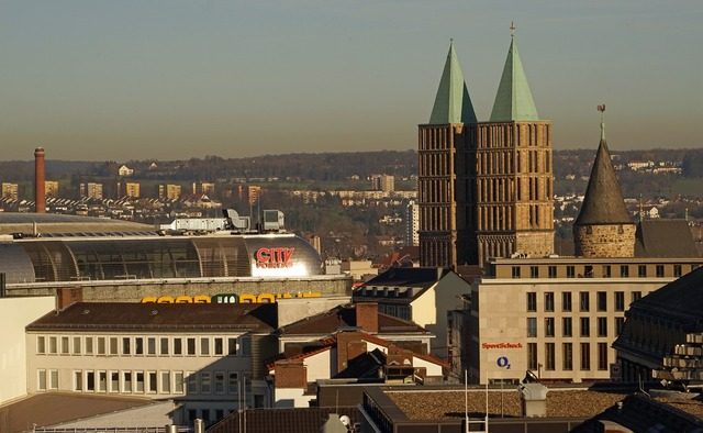 Martin church from above kassel, religion.