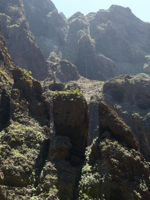 Masca ravine rock gorge.