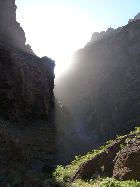 Masca ravine sun light.