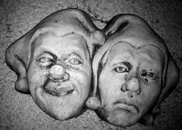 Masks stone mediaeval.
