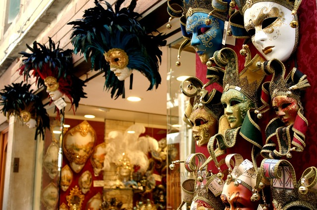 Masks venetian venice.