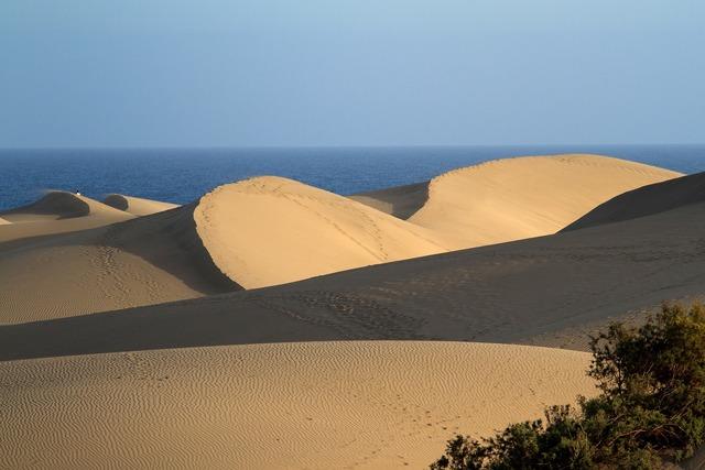 Maspalomas dunes sand dunes, travel vacation.