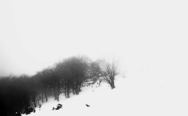 Matagalls mountains snow, nature landscapes.