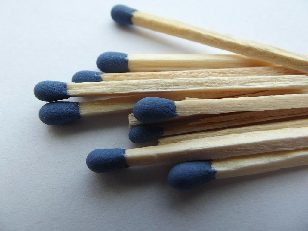 Match matchbox burn.