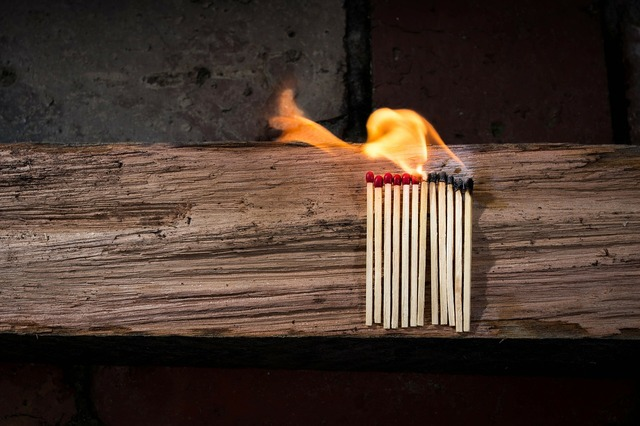 Matches matchstick flammable.