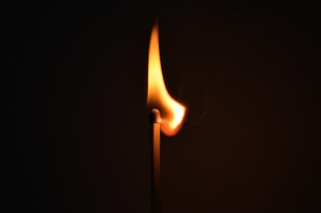 Matchstick fire light, backgrounds textures.
