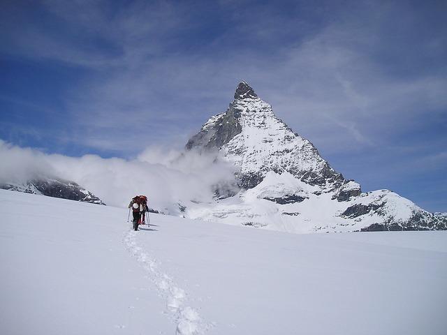 Matterhorn zermatt mountains.