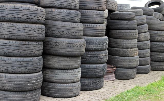 Mature auto tires storage.