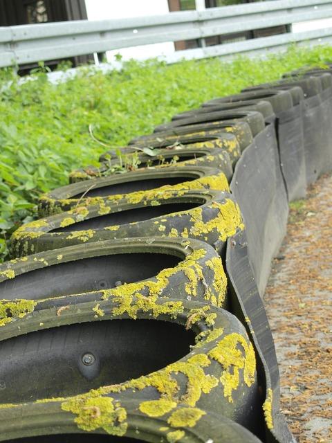 Mature environment auto tires.