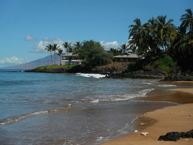 Maui hawaii beach, travel vacation.