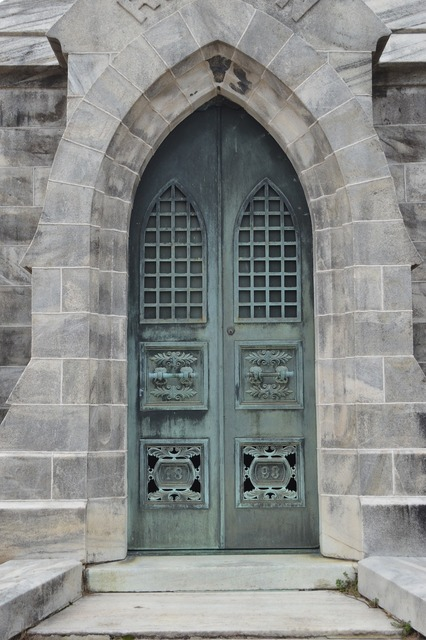 Mausoleum door old, architecture buildings.