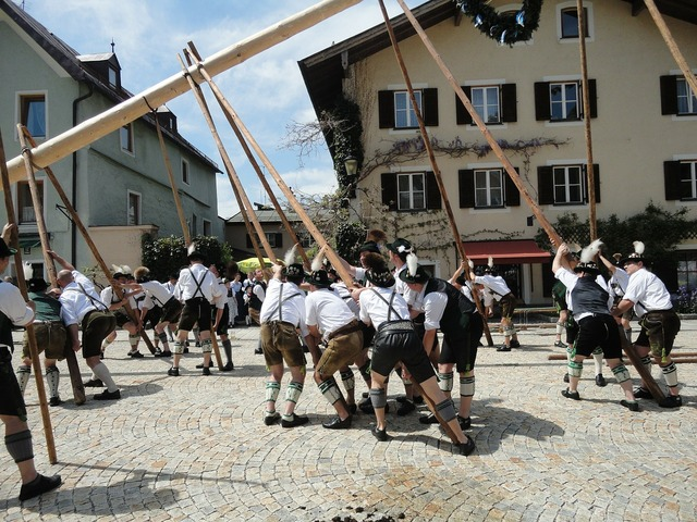 Maypole bad reichenhall 1 may.