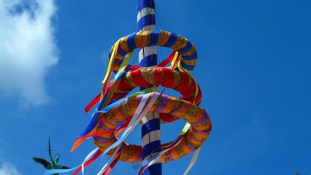Maypole colorful color.