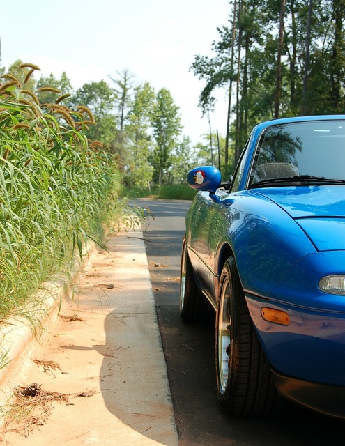 Mazda sports car miata, transportation traffic.
