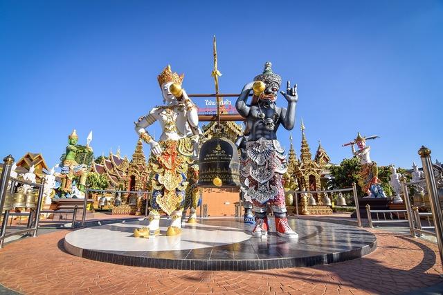Measure thailand temple thailand, religion.