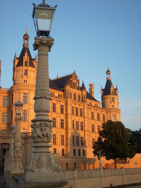 Mecklenburg western pomerania castle schwerin, architecture buildings.