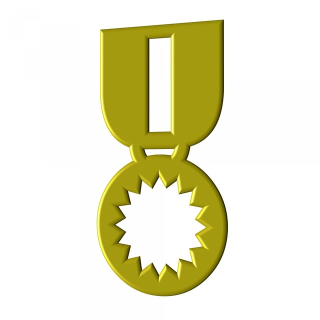 Medal isolated yellow.