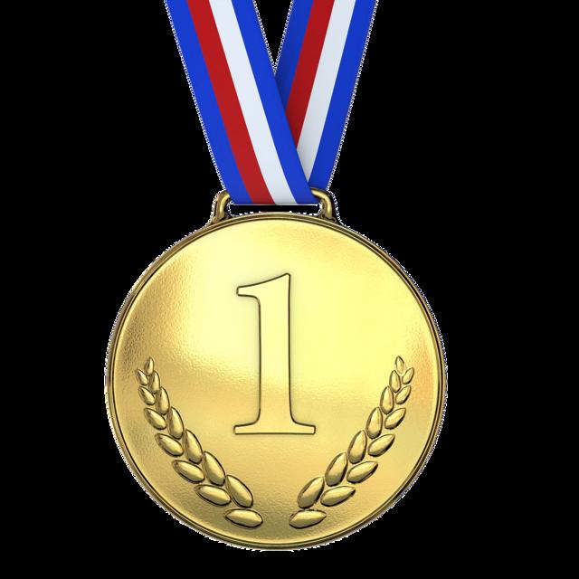 Medal trophy achievement.