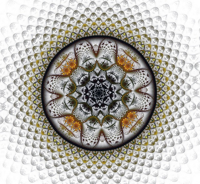 Medallion fractal digital.