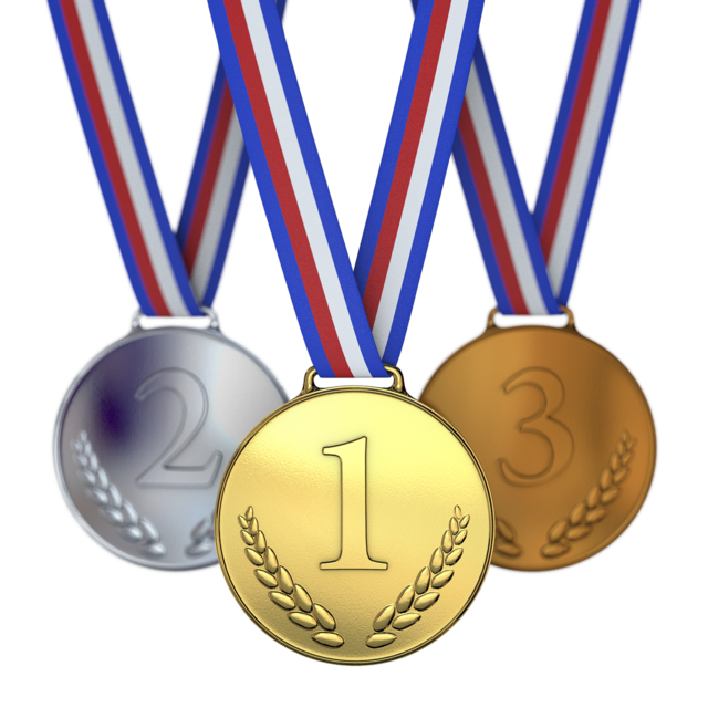 Medals winner runner-up.