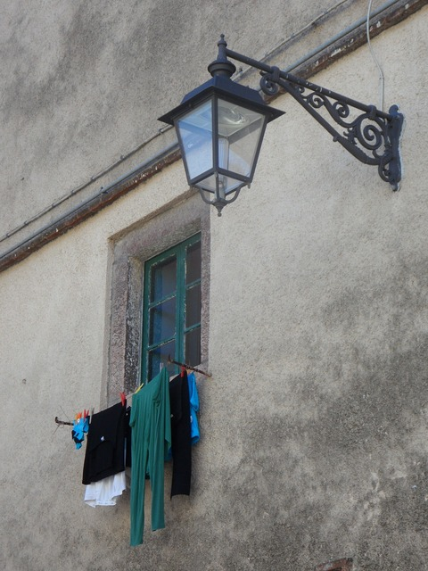 Mediterranean facade lantern, architecture buildings.