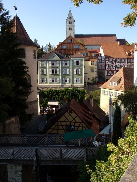 Meersburg lake constance old town, architecture buildings.