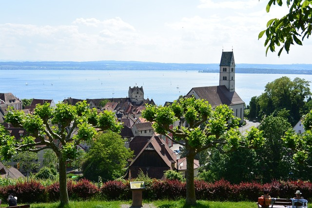 Meersburg lake constance summer, religion.