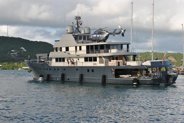 Megayacht superyacht helicopter.